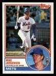1983 Topps #107  Mike Jorgensen  Front Thumbnail