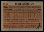 1983 Topps #159  Mike Stanton  Back Thumbnail