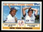 1983 Topps #81   -  Jerry Mumphrey / Dave Righetti Yankees Leaders Front Thumbnail