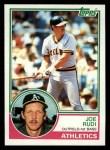1983 Topps #87  Joe Rudi  Front Thumbnail