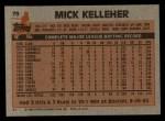 1983 Topps #79  Mick Kelleher  Back Thumbnail