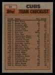 1983 Topps #51   -  Fergie Jenkins / Leon Durham Cubs Leaders Back Thumbnail