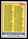 1983 Topps #349   Checklist Front Thumbnail