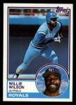 1983 Topps #710  Willie Wilson  Front Thumbnail