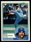 1983 Topps #375  Pete Vuckovich  Front Thumbnail