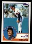 1983 Topps #120  Len Barker  Front Thumbnail