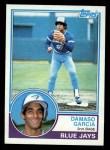 1983 Topps #222  Damaso Garcia  Front Thumbnail