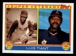 1983 Topps #179   -  Luis Tiant Super Veteran Front Thumbnail