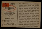 1954 Bowman #24  Don Dohoney  Back Thumbnail