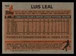 1983 Topps #109  Luis Leal  Back Thumbnail