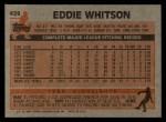 1983 Topps #429  Ed Whitson  Back Thumbnail
