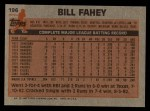 1983 Topps #196  Bill Fahey  Back Thumbnail