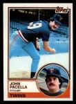 1983 Topps #166  John Pacella  Front Thumbnail