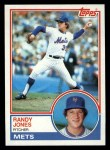 1983 Topps #29  Randy Jones  Front Thumbnail