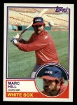 1983 Topps #124  Marc Hill  Front Thumbnail
