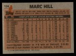 1983 Topps #124  Marc Hill  Back Thumbnail