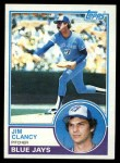 1983 Topps #345  Jim Clancy  Front Thumbnail