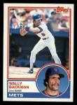 1983 Topps #444  Wally Backman  Front Thumbnail
