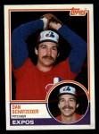 1983 Topps #189  Dan Schatzeder  Front Thumbnail