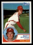 1983 Topps #199  Marty Bystrom  Front Thumbnail