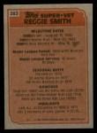 1983 Topps #283   -  Reggie Smith Super Veteran Back Thumbnail