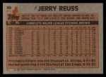 1983 Topps #90  Jerry Reuss  Back Thumbnail