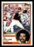1983 Topps #58  Al Holland  Front Thumbnail