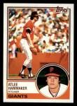 1983 Topps #342  Atlee Hammaker  Front Thumbnail