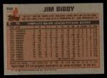 1983 Topps #355  Jim Bibby  Back Thumbnail