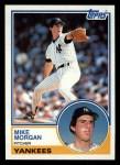 1983 Topps #203  Mike Morgan  Front Thumbnail