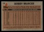 1983 Topps #782  Bobby Murcer  Back Thumbnail