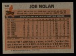 1983 Topps #242  Joe Nolan  Back Thumbnail