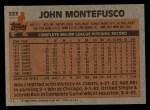 1983 Topps #223  John Montefusco  Back Thumbnail