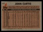1983 Topps #777  John Curtis  Back Thumbnail