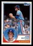 1983 Topps #534  John Butcher  Front Thumbnail
