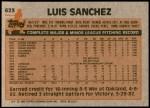 1983 Topps #623  Luis Sanchez  Back Thumbnail
