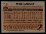 1983 Topps #128  Mike Ramsey  Back Thumbnail
