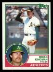 1983 Topps #312  Brian Kingman  Front Thumbnail