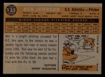 1960 Topps #135   -  Ken Johnson Rookie Star Back Thumbnail
