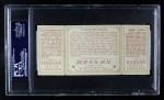 1912 T202 Hassan   -   Roger Bresnahan / Rebel Oakes Catching Him Napping  Back Thumbnail