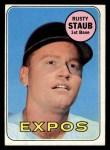 1969 Topps #230  Rusty Staub  Front Thumbnail