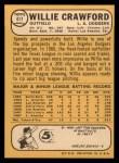1968 Topps #417  Willie Crawford  Back Thumbnail