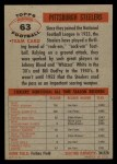1956 Topps #63   Steelers Team Back Thumbnail
