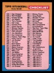 1975 Topps #257   Checklist 2 Front Thumbnail