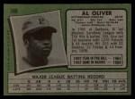 1971 Topps #388  Al Oliver  Back Thumbnail
