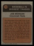1972 Topps #752   -  Joe Morgan Traded Back Thumbnail