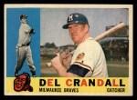 1960 Topps #170  Del Crandall  Front Thumbnail