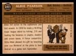 1960 Topps #241  Albie Pearson  Back Thumbnail