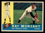 1960 Topps #338  Ray Monzant  Front Thumbnail