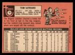 1969 Topps #78  Tom Satriano  Back Thumbnail